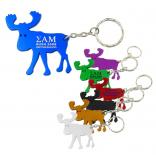 Caribou / Moose Bottle Opener Keychain