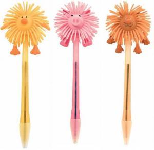 Light Up Spikey Tiger, Pig & Duck Shaped Pens