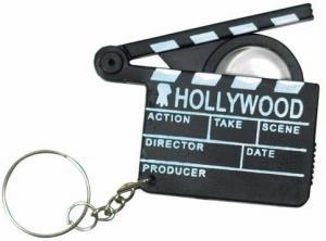 Hollywood Clapboard & Magnifier Keytag