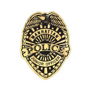 Promotional Police Officer Badge Stickers  Police