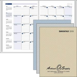 Ready Reference Monthly Format Stitched To Paper Cover