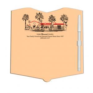 Open Book Shaped Dry Erase Memo Board