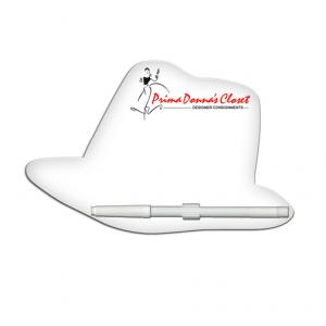Fedora Shaped Dry Erase Memo Board