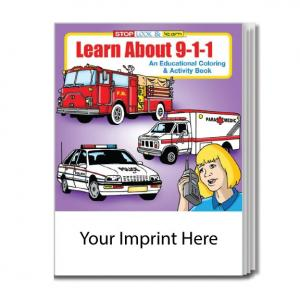 """Learn About 911"" Coloring Book"