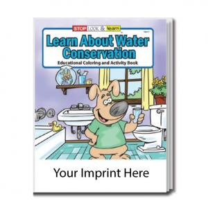 """""""Learn About Water Conservation"""" Coloring Book"""
