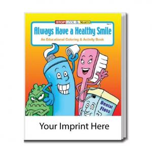 """Always Have A Healthy Smile"" Coloring Book"