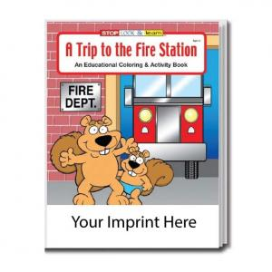 """""""A Trip to the Fire Station"""" Coloring Book"""