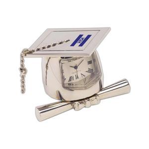 Cap and Diploma Graduate Desktop Clock