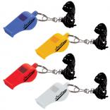 Sports Whistle Keytag with Black Lanyard