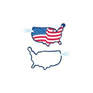 USA Map Shaped Key Tag Light
