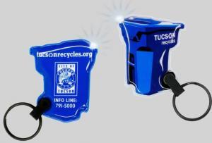 Recycle Bin Shaped Key Tag Light