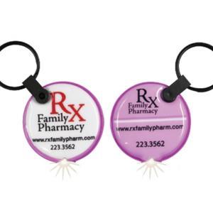Round Pill Shaped Key Tag Light