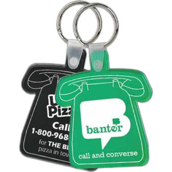 Telephone Shaped Soft Key Tag