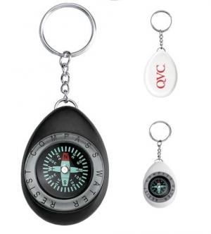 Oval Compass Key Chain