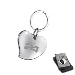 Metal Heart Shape Keychain