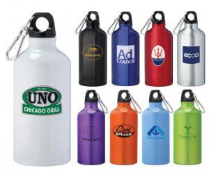 17 oz. Aluminum Water Bottle With Carabiner