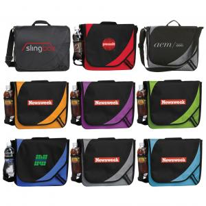 Messenger Bag With Side Mesh Pocket