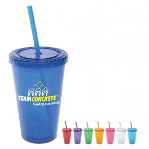 16 oz. Color Double Wall Tumbler