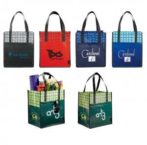 Laminated Big Grocery Tote Bag