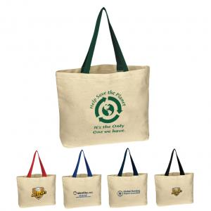 10 oz. Classic Style Natural Canvas Tote Bag