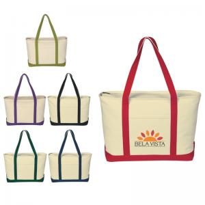 24 oz. Zippered Top Classic Style Boat Tote