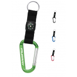 Nylon Strap Carabiner with Compass