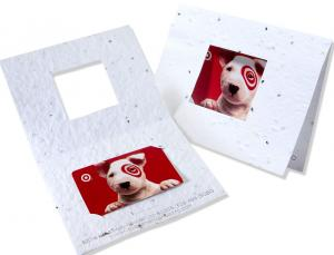 Custom Imprinted Seed Paper Business/Gift Card Holder with View Window