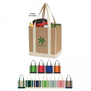 Double-Tone Shopping Tote Bag