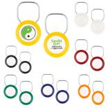 Round Snap Keyring w/ 2 Sided Imprint
