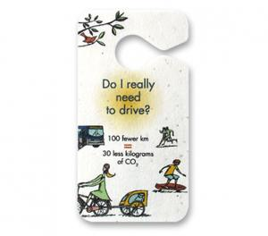 Seed Paper Hanging Car Mirror Tags