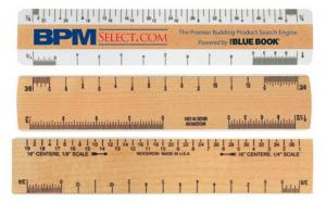 "6"" Good Measure Double Bevel Ruler for Architects"