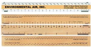"12"" Good Measure Double Bevel Ruler for Architects"