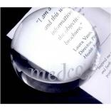 Crystal Dome Paperweight Magnifier