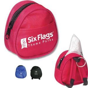 Mini Backpack Keychain with Poncho