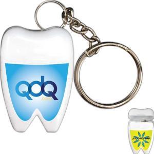 Tooth Shaped Dental Floss W/ Key Chain