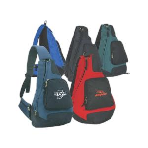 Polyester Sling Backpack W/ Zipper