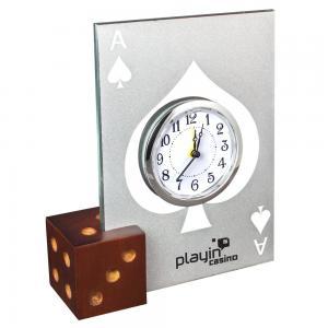Glass Dice Alarm Clock