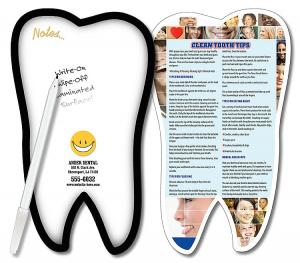 Tooth Shaped Dry Erase Memo Board
