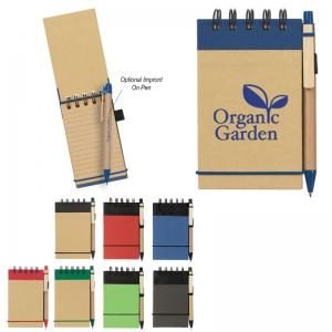 Eco-Friendly Spiral Jotter and Pen