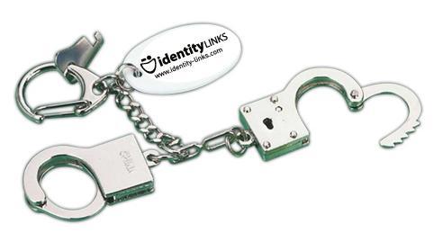 Hand Cuffs Logo Key Tag