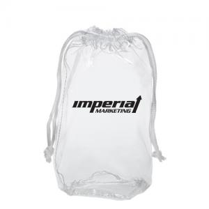 Clear Tote Bag with Drawstring Handles