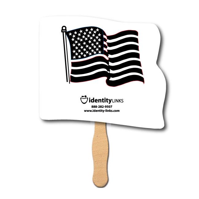 Full Flag Shaped Hand Fan