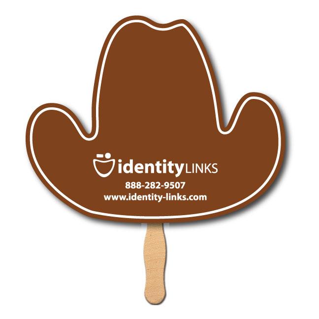 Cowboy Hat Shaped Hand Fan