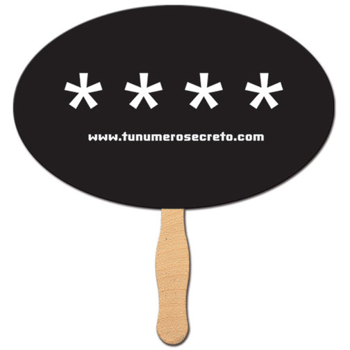 Oval Shaped Hand Fan