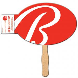 Oval Coupon Fan