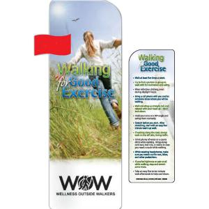 """Walking For Good Exercise"" Bookmark"