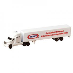 All Die Cast Conventional Sleeper Truck Replica with Trailer