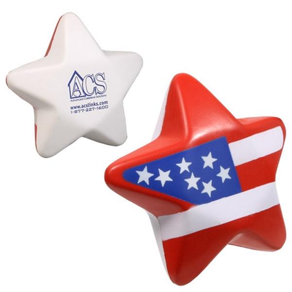 Patriotic Star Stress Reliever