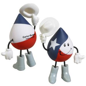 Texas Themed Droplet Stick Fiqure Stress Reliever