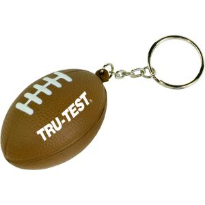 Football Shaped Stress Reliever Keychain